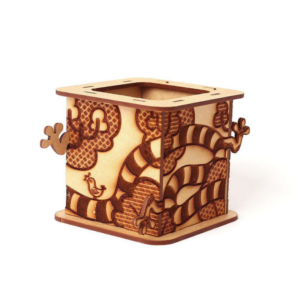 Caixa Maluca 3D com Gravação 360 em madeira MDF