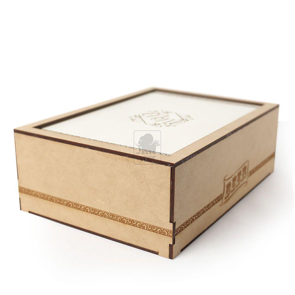 Kit 10 Caixas para Padrinhos Personalizada com Gravação a laser