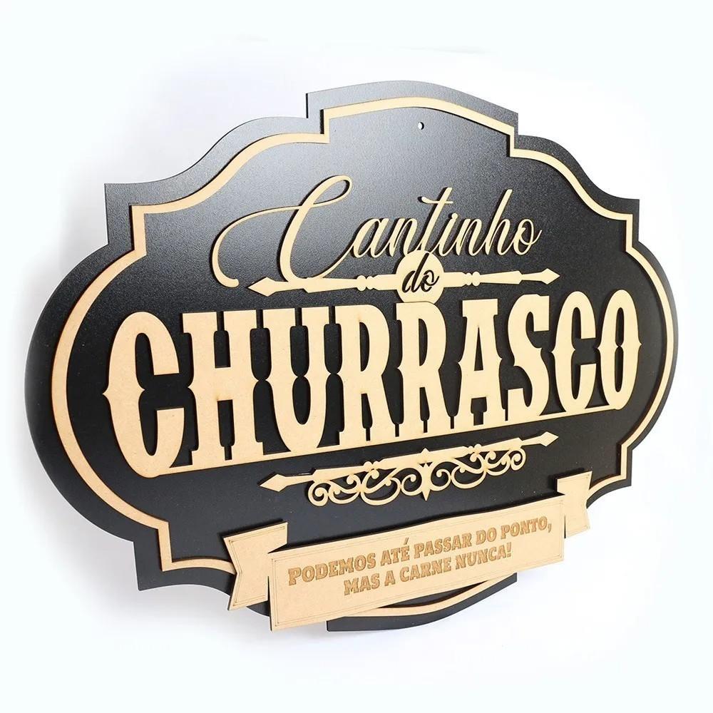 Cantinho Do Churrasco Placa Decorativa Grande Mdf