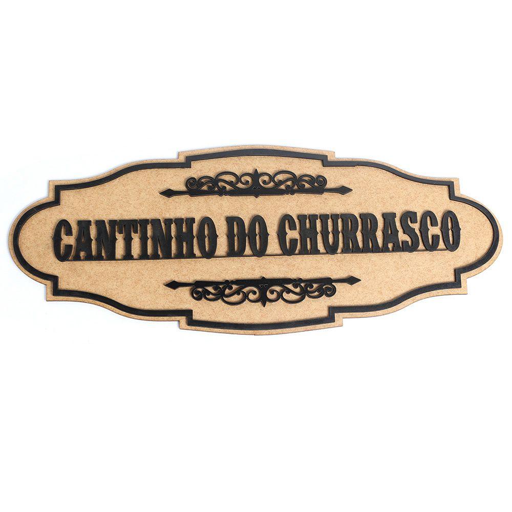 Cantinho Do Churrasco Placa Quadro De Madeira Mdf
