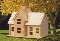 Casinha de Brincar Média Casa para Bonecas Mdf Cru 3mm