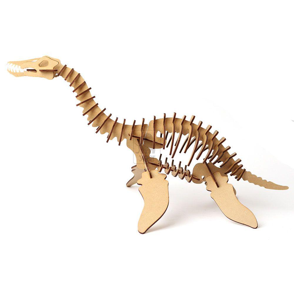 Dinossauro Plesiossauro Quebra Cabeça 3d