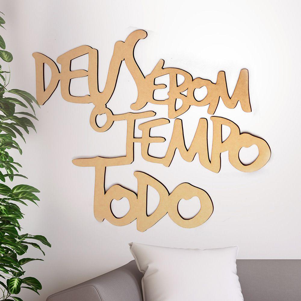 Frase Decorativa Deus É Bom O Tempo Todo 40cm