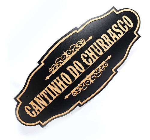 Kit 2 Placas Cantinho Do Churrasco Quadros Madeira Mdf