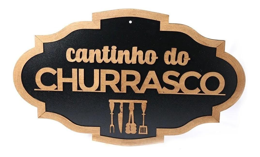 Kit 4 Quadros Cantinho Do Churrasco Rústico
