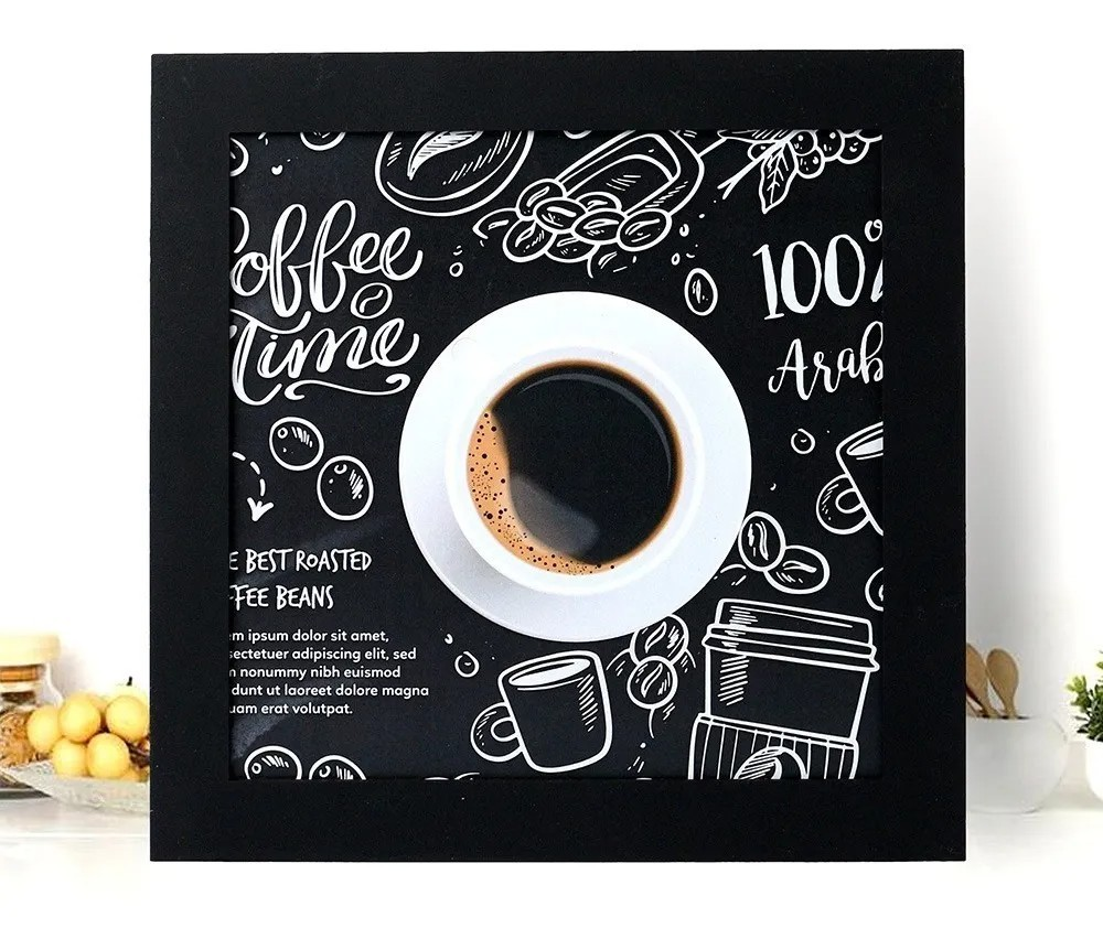 Kit 6 Quadros Decorativos Cantinho Do Café