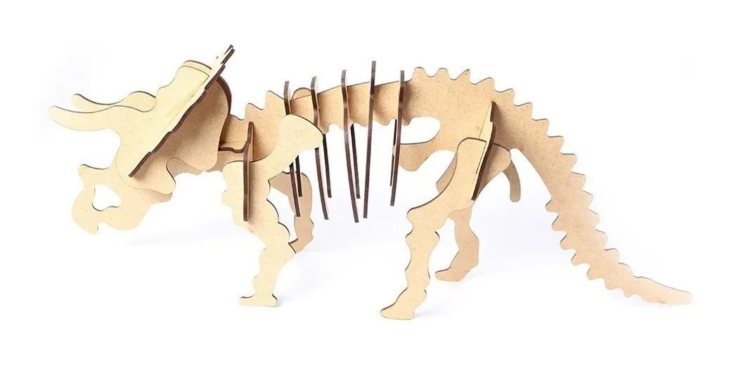 Kit Dinossauros Mdf Quebra Cabeça 3d