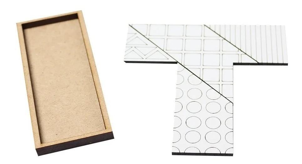 Kit Jogos Educativos Tangram Domino Jogo Da Velha Desafio T