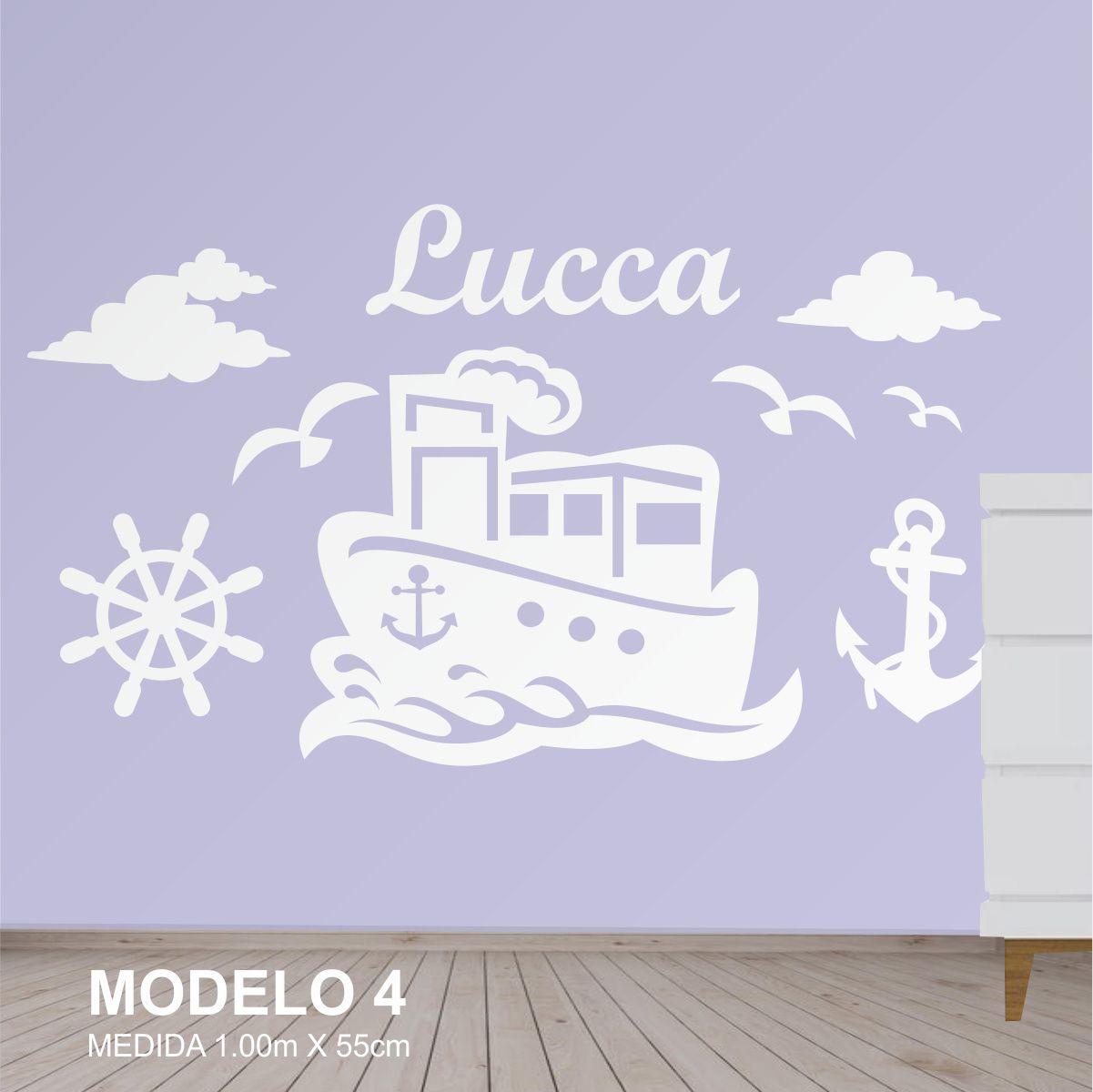 Painel Decorativo Para Quarto Infantil Marinheiro Barco Mdf