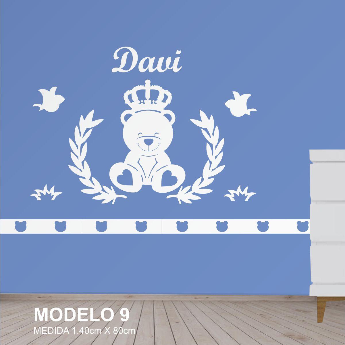Painel Decorativo Quarto Infantil Urso Coroa Principe MdfCru