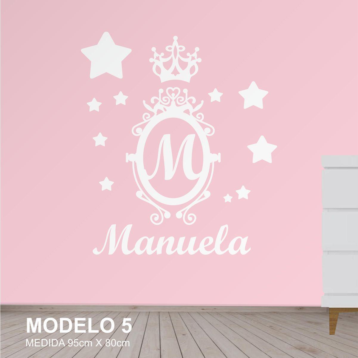 Painel Quarto Infantil Nome Estrela Brasão Princesa Mdf