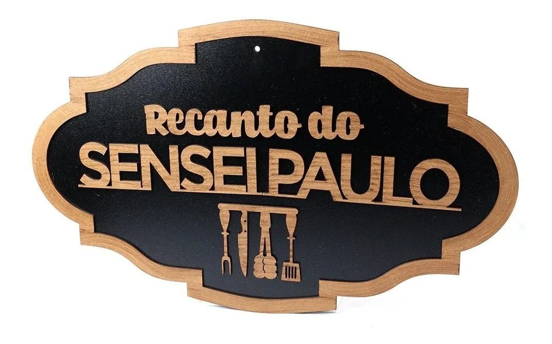 Placa Decorativa Cantinho Churrasco Recanto (Personalizado)