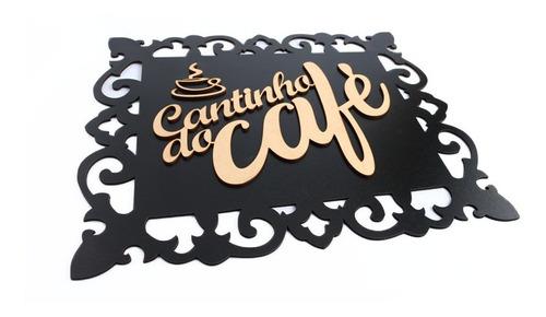 Placa Decorativa Cantinho Do Café Mdf