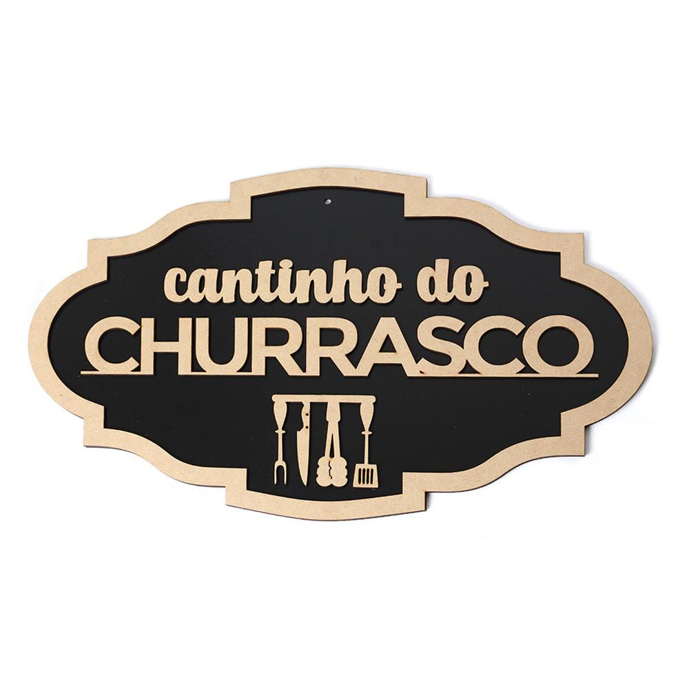 Placa Decorativa Cantinho Do Churrasco Churrasqueira Bar Mdf