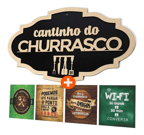 Placa Decorativo Cantinho Do Churrasco
