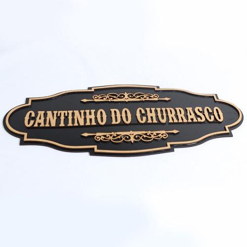 Placa Personalizada Cantinho Recanto Churrasco Café Nome Mdf