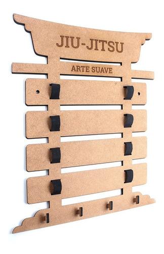 Porta 5 Faixas Jiu-jitsu Gancho Medalhas