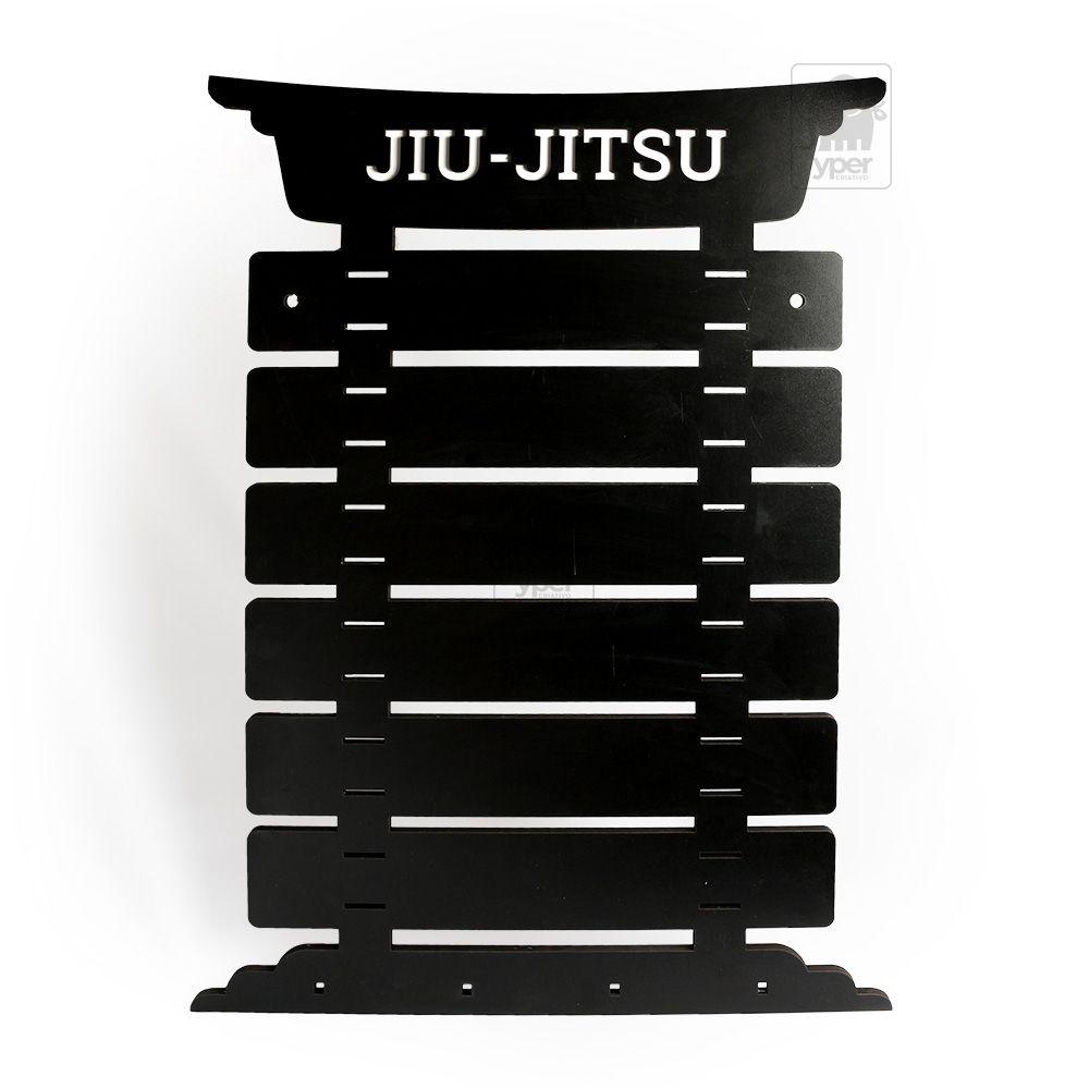 Porta 6 Faixas Preto Karate Jiujitsu Taekwondo Personalizado