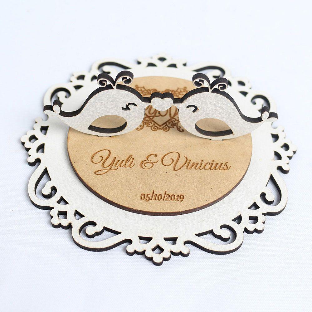Porta Aliança Casamento Gravado (Personalizado)