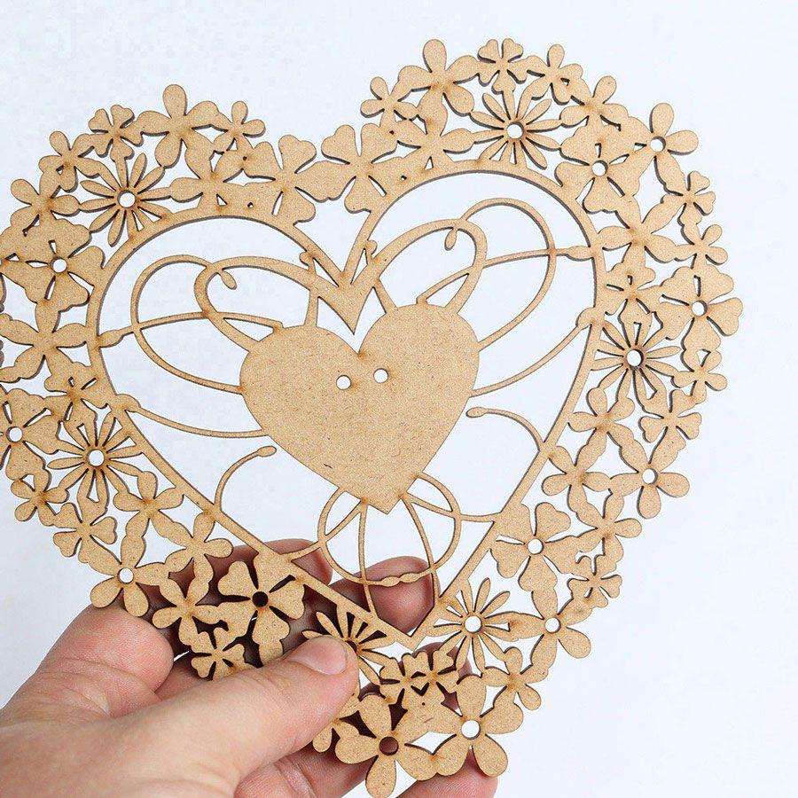 Porta Aliança Casamento Placa Coração