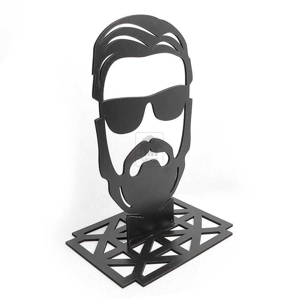 Porta Oculos Para Barbearia Barbeiro Cabeleireiro MDF Preto