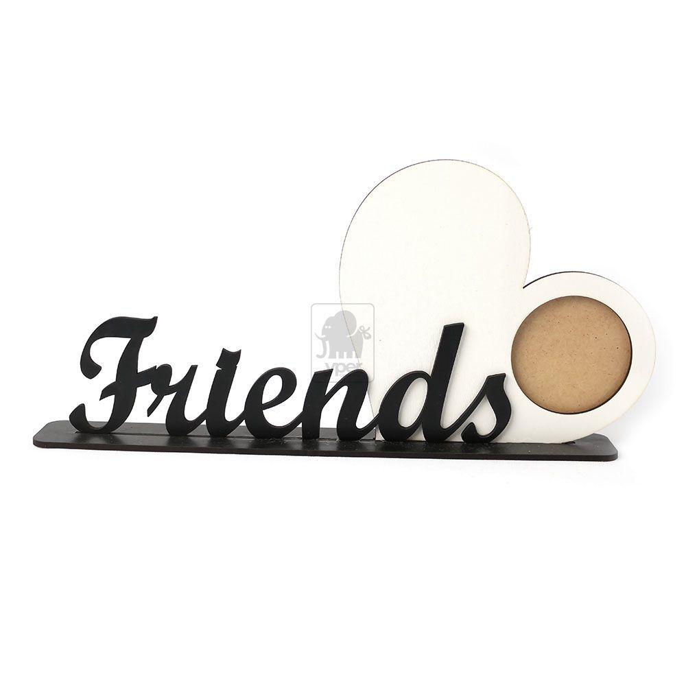 Porta Retrato Friends Amigos Foto no Coração