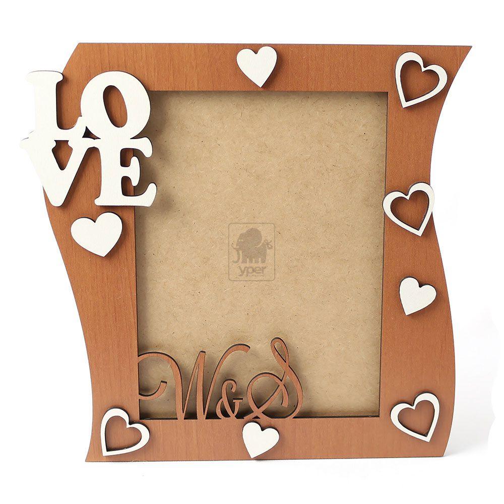 Porta Retrato Love Corações (Personalizado)
