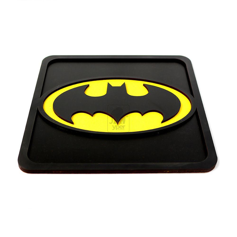 Quadro Batman Preto Alto Relevo 3d Super Heróis