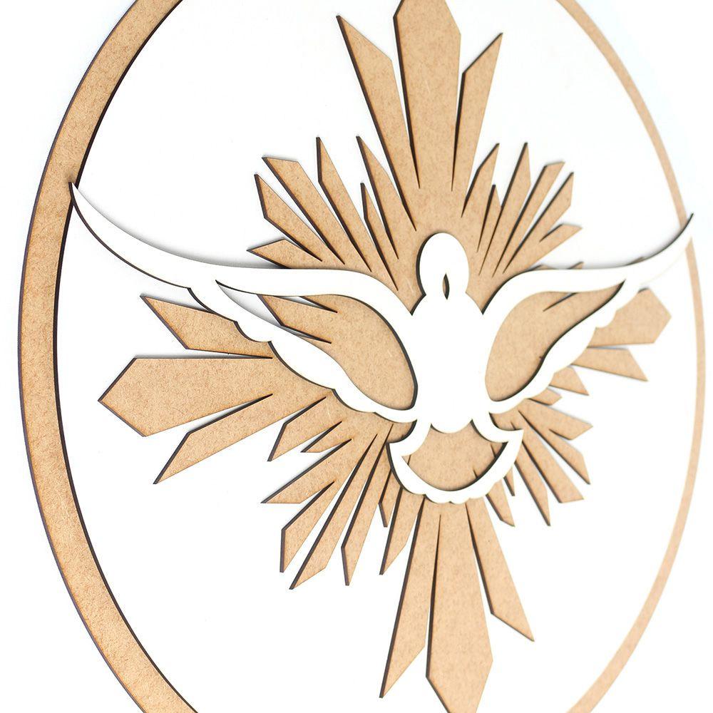 Quadro Mandala Espirito Santo Batizado Batismo Pompa Paz