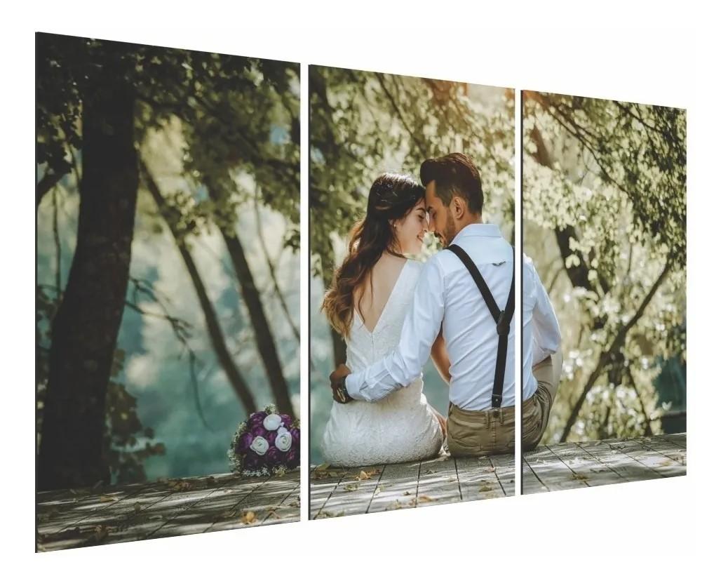 Quadro Painel Decorativo Personalizado com sua foto 68x40cm