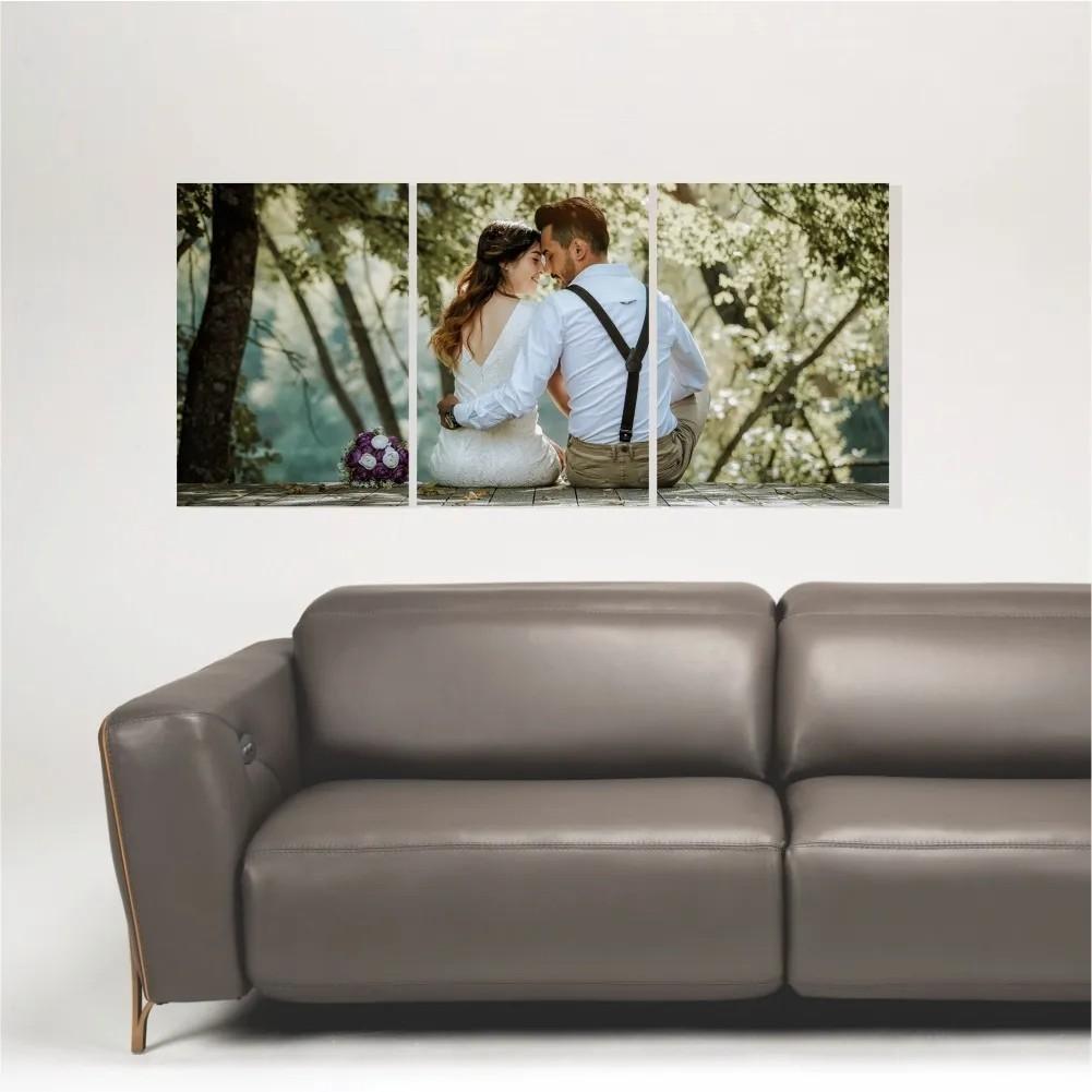 Quadro Painel Decorativo Personalizado com sua foto 85x40cm