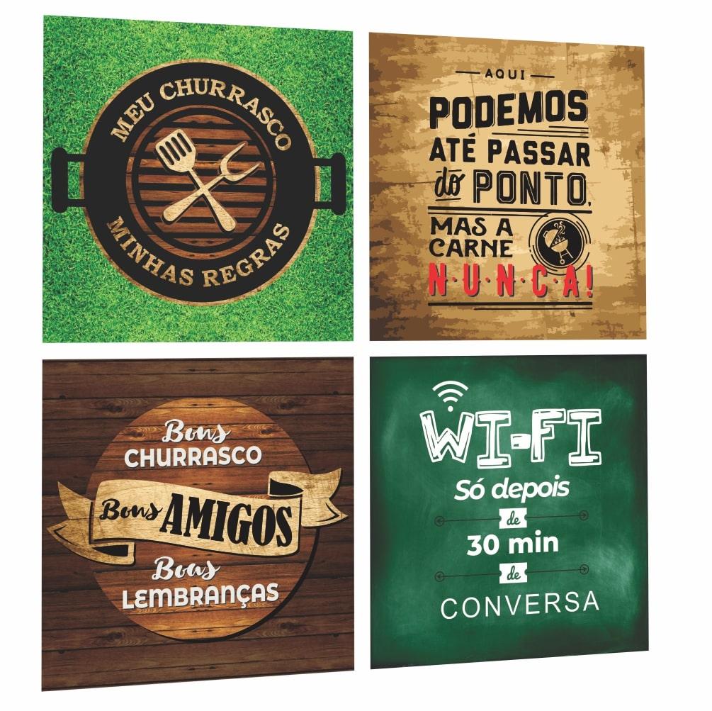 Quadros Espaço Area Gourmet Cantinho Churrasco Churrasqueira