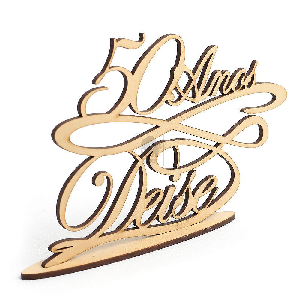 Topo De Bolo 50 anos Nome e Idade (Personalizado)