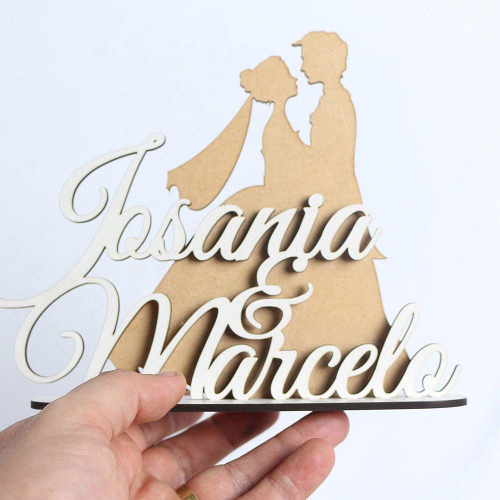 Topo De Bolo Para Casamento Noivos Casal (Personalizado)