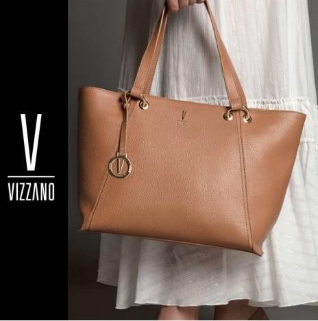 Bolsa Shopper Vizzano Camel Preta 10004.1.21099