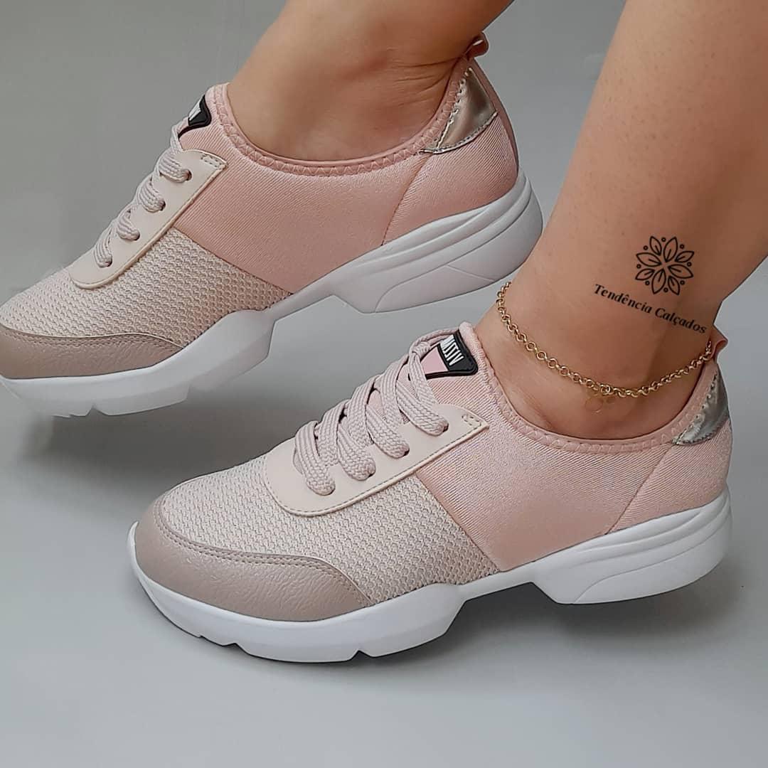 Tênis Feminino Casual Rosa Dad Sneaker Vizzano V112