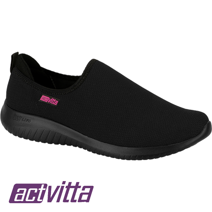 ESPORTIVO SLIP ON CASUAL ACTVITTA ACT LITE PRETO   4806.108.20755.15745