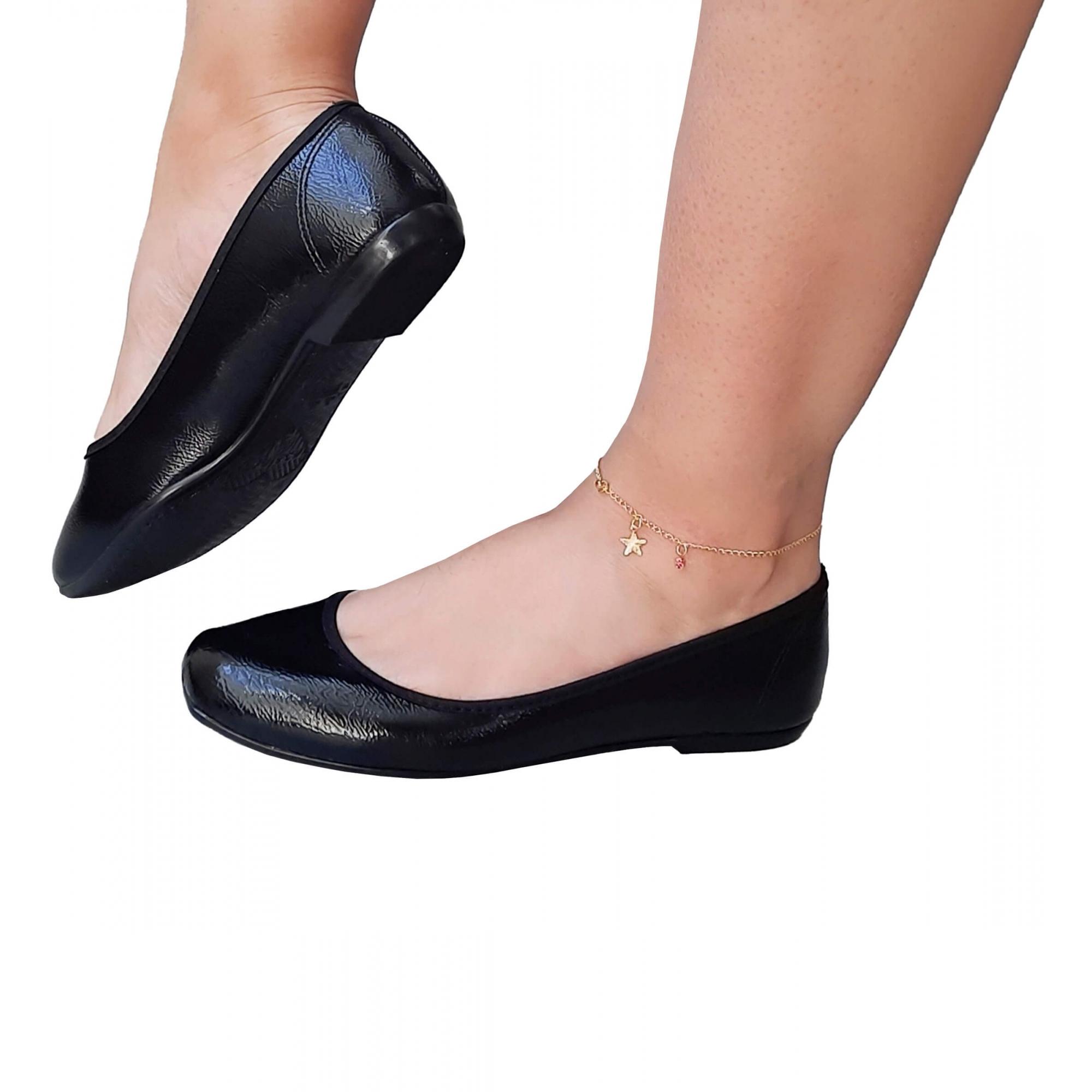 Sapatilha Feminina Confortável Bico Quadrado MS100