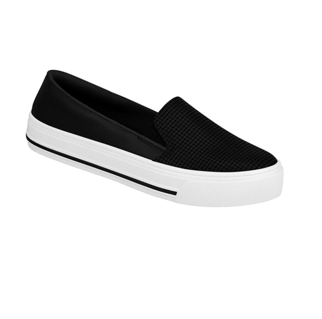 SLIP ON CASUAL PRETO BEIRA RIO  4220.202.19050.16579 495