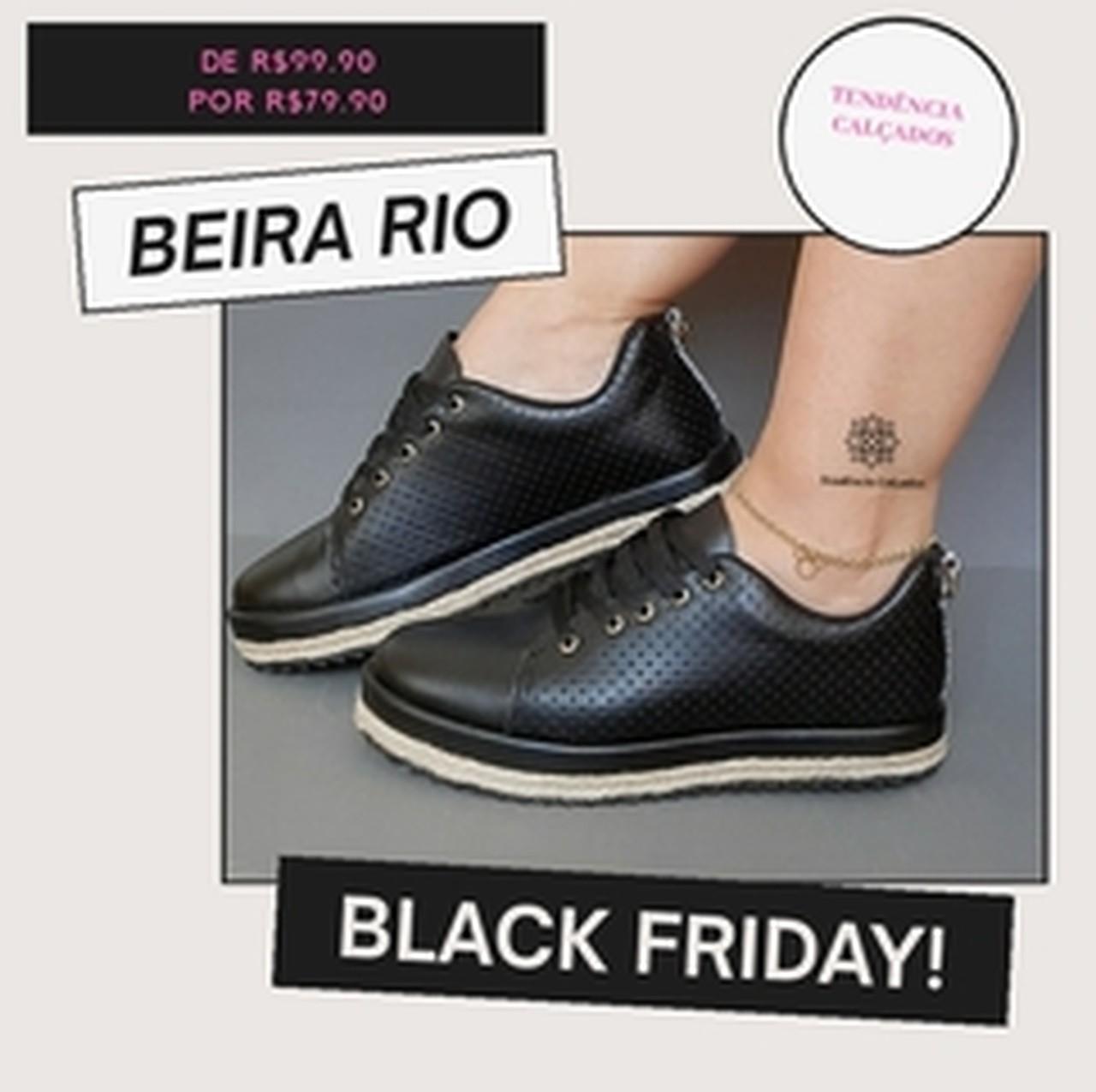 TÊNIS BEIRA RIO  PRETO  4196.808.21042.33629