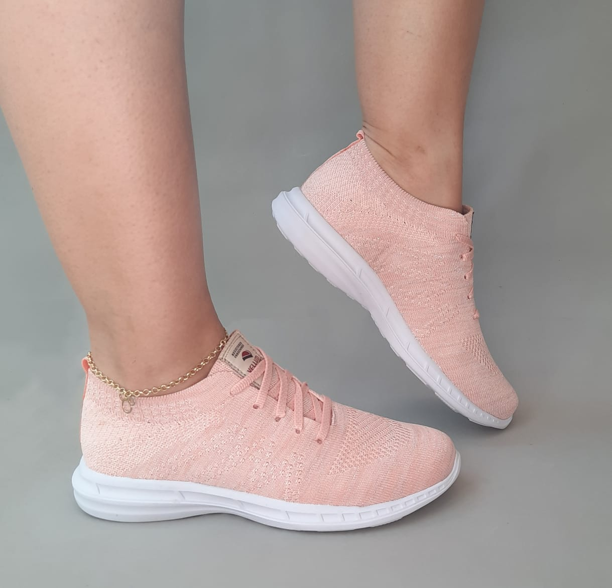 TÊNIS CASUAL JOGGING ROSA VELL