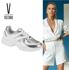 Tênis Dad Sneaker Vizzano Holográfico Feminino