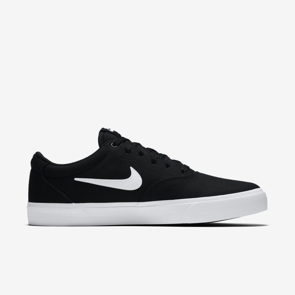 Tênis Nike SB Charge Canvas Original Preto Branco