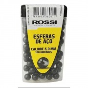 ESFERA DE AÇO 6,0MM PRETA C/ 100 UN - ROSSI
