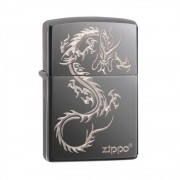 ISQUEIRO ZIPPO CHINESE DRAGON BLACK ICE - COD. 49030