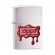ISQUEIRO ZIPPO RED WAX SEAL BRUSHED CHROME - COD. 29492