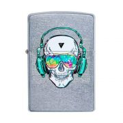 ISQUEIRO ZIPPO SKULL HEADPHONE STREET CHROME - COD. 29855