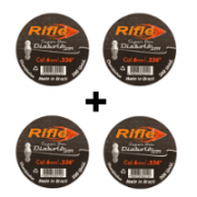 KIT 4 CHUMBINHO RIFLE DIABOLO STR 6,0 - 200 UND SUPER BOX