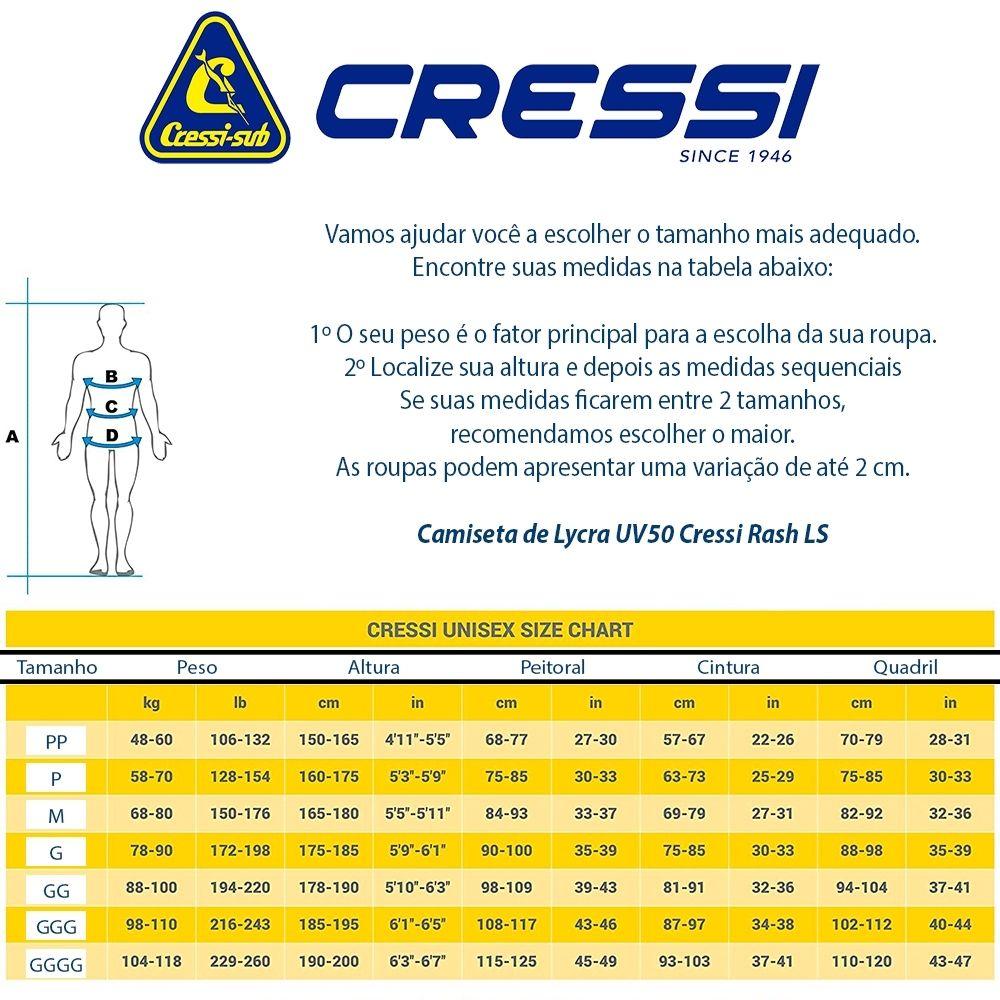 CAMISA DE LYCRA MANGA LONGA UV RASH - CRESSI