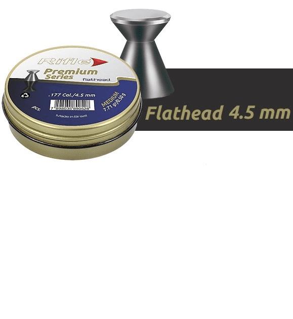 CHUMBINHO RIFLE PREMIUM FLATHEAD 4,5 - 500 UND SUPER BOX